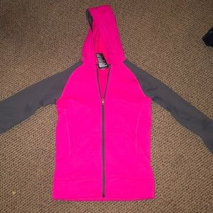 pink Adidas zip up